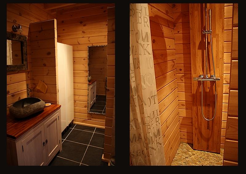 D coration d une salle de bains eyre d co - Douche italienne pierre naturelle ...